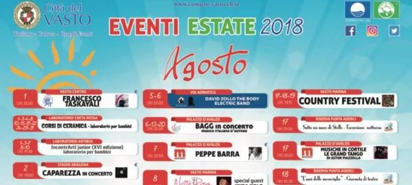 Calendario Eventi.Calendario Eventi Vasto 2018 Viaggiando Italia Luoghi Da