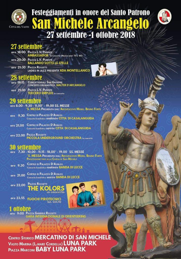 San Michele Data Calendario.Eventi A Vasto Festivita Di San Michele 2018 Ecco Il