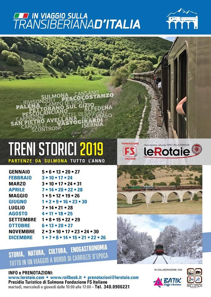 Calendario Treni Storici 2020.Transiberiana D Italia Ecco Il Calendario Di Tutte Le