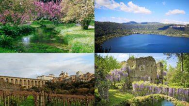 Itinerario nella Bellezza. Giardini di Ninfa, Lago di Nemi e Ariccia ai Castelli Romani