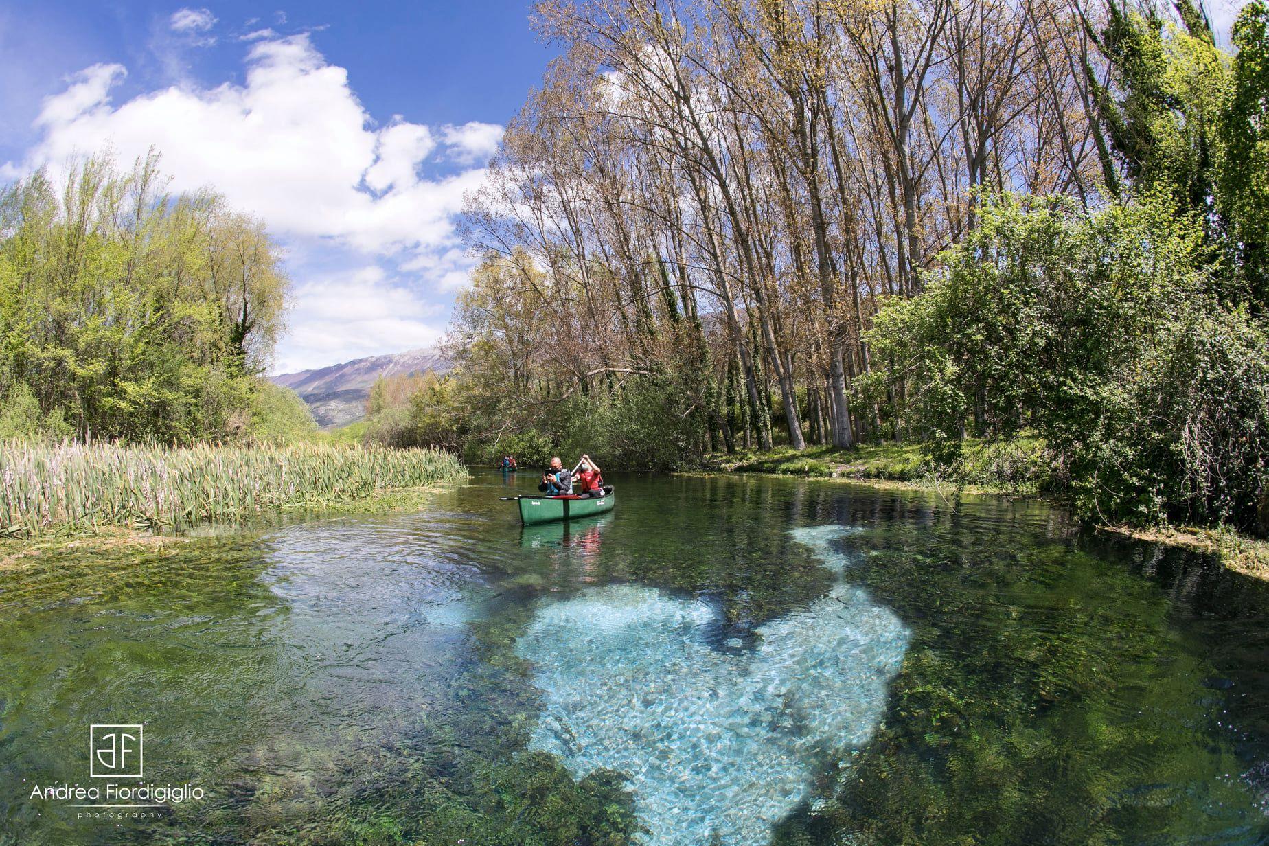 """Abruzzo. Siete già stati in canoa nel """"Cuore"""" della Valle del Tirino a Capestrano (AQ)?"""