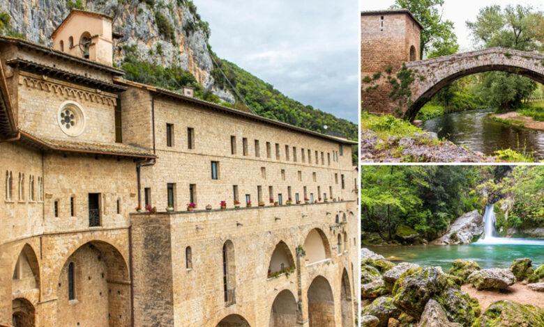Itinerario per tutti. Subiaco, Ponte Medievale, Sacro Speco e Laghetto di San Benedetto