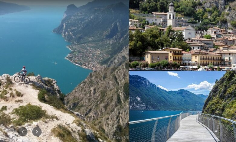 Itinerario sul Lago di Garda. Pista Ciclabile, Limone e Belvedere Punta Larici