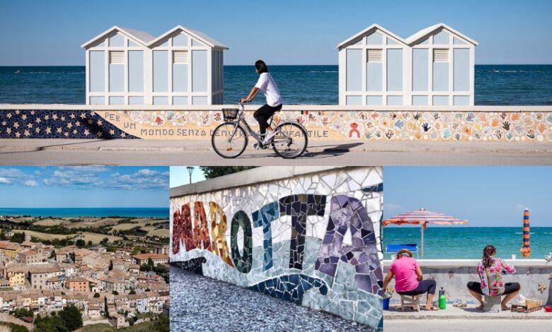 Marche. Marotta Mondolfo, sul lungomare brillano oltre 200 mosaici