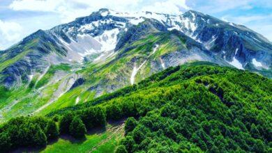 Abruzzo. Il Monte Corvo visto da Prato Selva di Fano Adriano, Teramo (2)