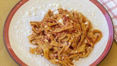 Cosa mangiare a Cineto Romano_ Sagne al Farro al sugo_ una delizia gustata nella pace del Borgo