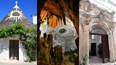 Itinerario per tutti in Puglia. Alberobello, Grotte di Castellana, Locorotondo