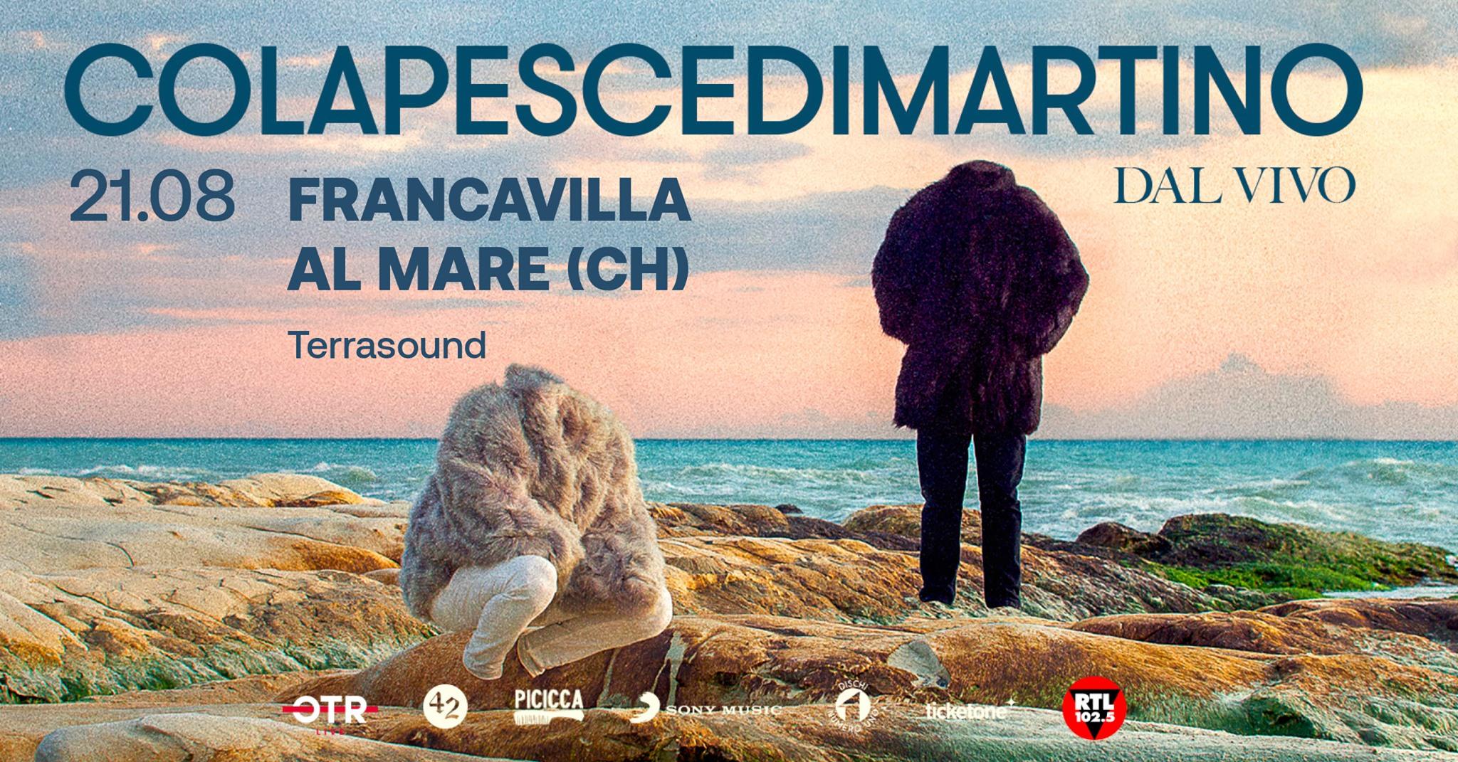 Concerti in Abruzzo. COLAPESCEDIMARTINO Live @ Terrasound, Francavilla al Mare (CH)
