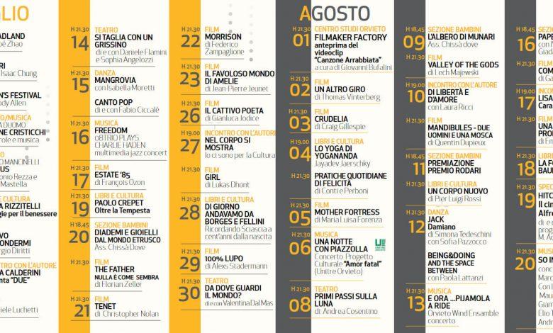 """Umbria. Orvieto, ecco il Calendario Completo degli Eventi per """"Notti d'Estate 2021"""""""