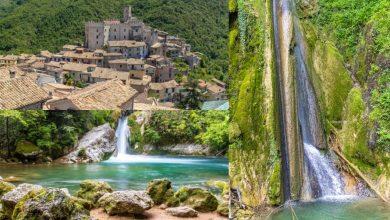 Itinerario in Lazio, tra _Borghi e Acqua_. Cascata delle Vallocchie, Cineto Romano, Lago San Benedet