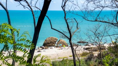 """Vasto. Ecco il paesaggio tranquillo e rilassante della Spiaggia di San Nicola con lo """"scoglio spaccato"""""""