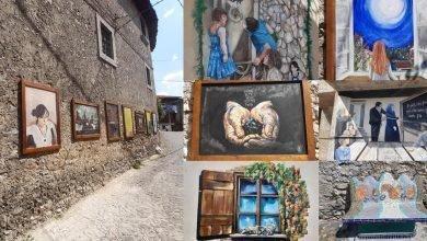 Abruzzo. Hai già visitato il piccolo Borgo di Tufo coi Murales e circondato dai monti Carseolani?