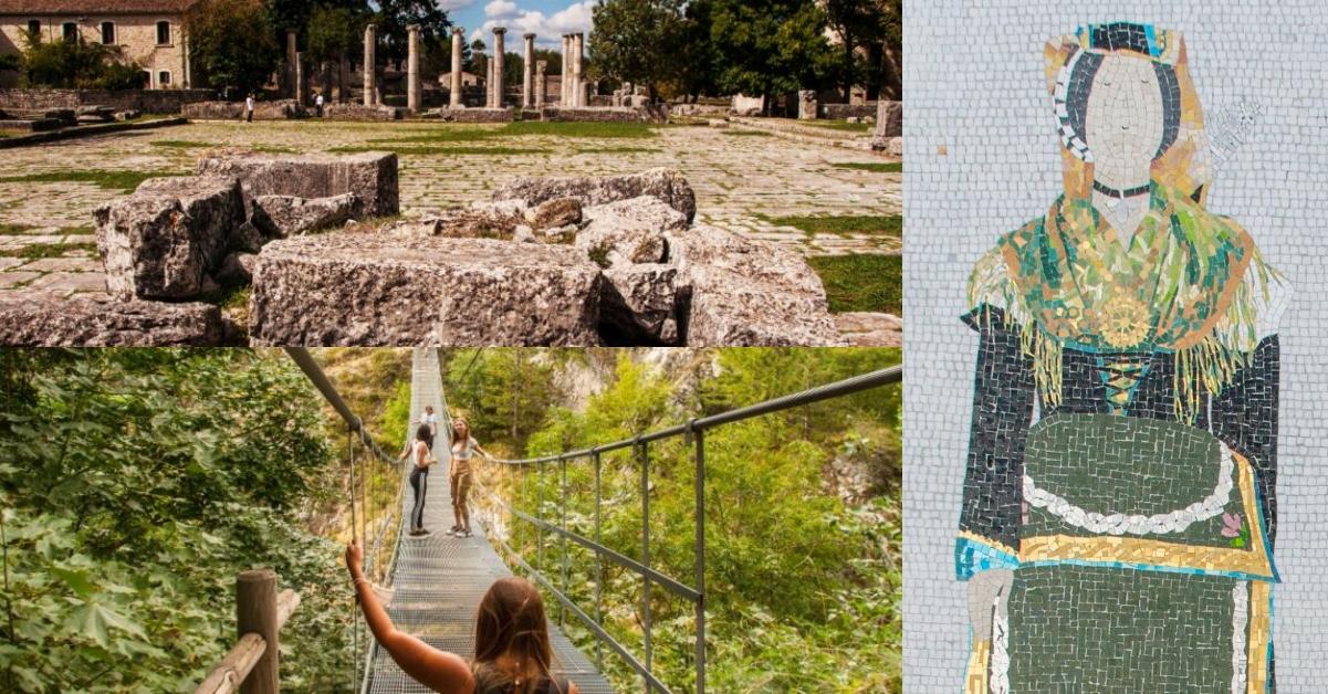 Itinerario in Molise. L'Antica Sepino, Mosaici di Guardiaregia, Ponte Tibetano di Roccamandolfi