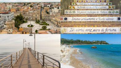 Itinerario in bicicletta a Vasto. Centro Storico, Spiagge, Calette sulla Costa dei Trabocchi