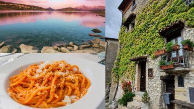 Itinerario tra Abruzzo e Lazio. Borgo di Pietracamela, Lago di Campotosto, Amatrice