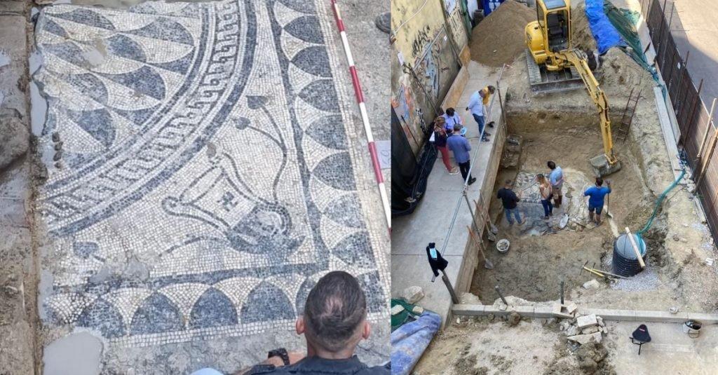 Pescara. Riemerge il mosaico romano del III Secolo dopo Cristo