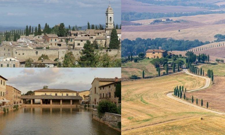 Itinerario in Toscana. Paesaggi poetici toscani, Borgo Antico e Vasca Termale medievale